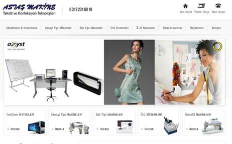 web tasarım, Astaş Makine