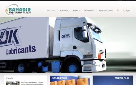 web tasarım, Bahadır Kimya