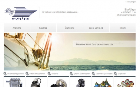 web tasarım, Baysan Marine