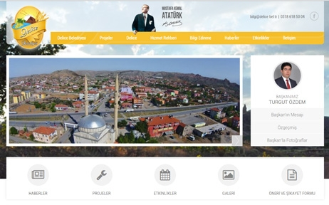 web tasarım, Delice Belediyesi
