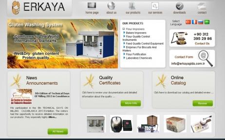 web tasarım, Erkaya Gıda
