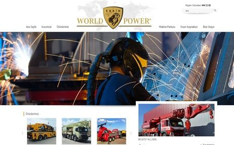 erkin world power, web tasarım