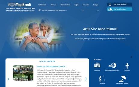 yapı kredi emekli sandığı vakfı, web tasarım